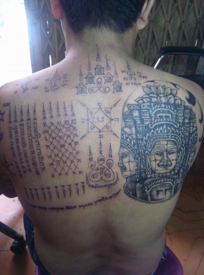 Sak Yant- Traditional Cambodian Sacred Tattoo | Phnom Penh Tattoo ...
